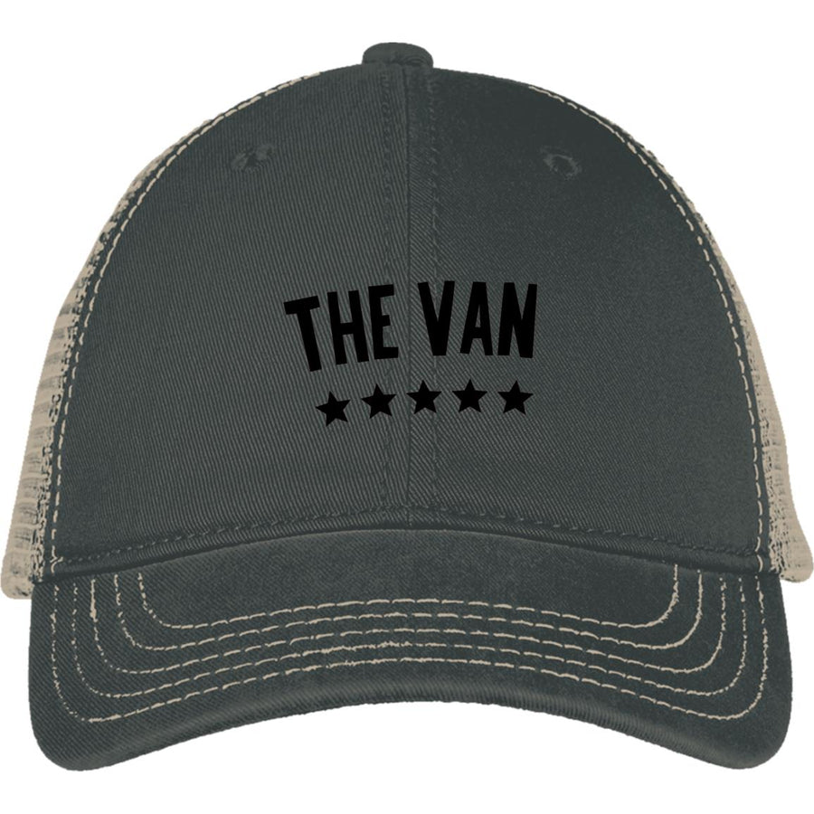 The Van Black Logo DT630 Mesh Back Cap