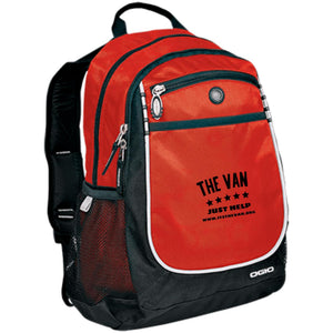 The Van Black Logo 711140 Rugged Bookbag
