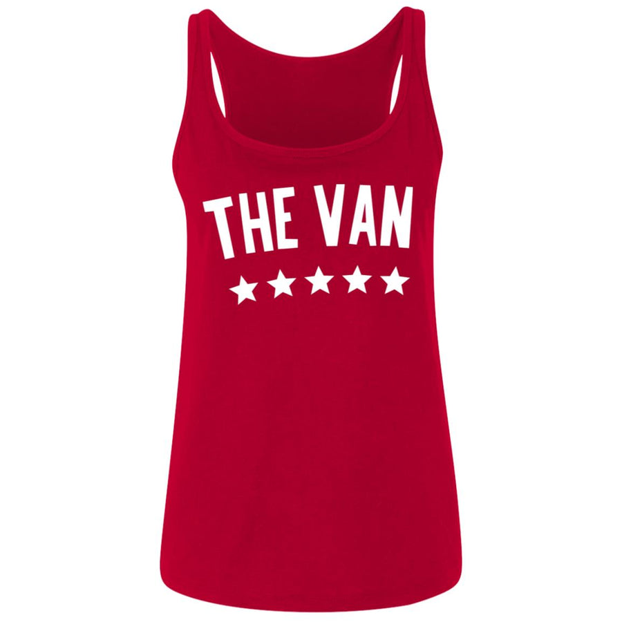 The Van White Logo 6488 Ladies' Relaxed Jersey Tank