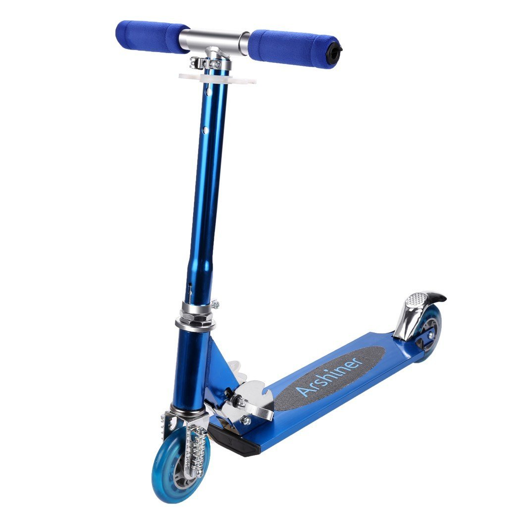 Trottinette enfant bleue ajustable en aluminium Arshiner