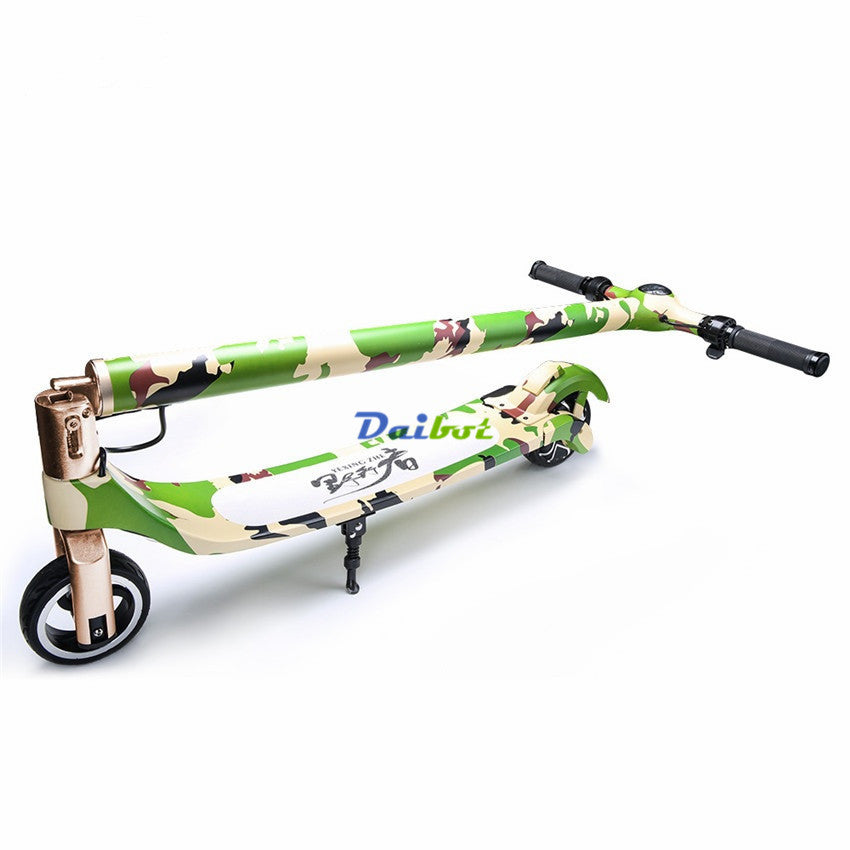 Trottinette électrique adulte camouflage portable à batterie Camouflage