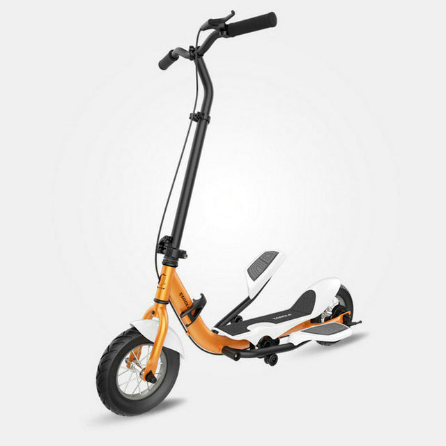 Trottinette adulte carbone orange à pédale Tarcle