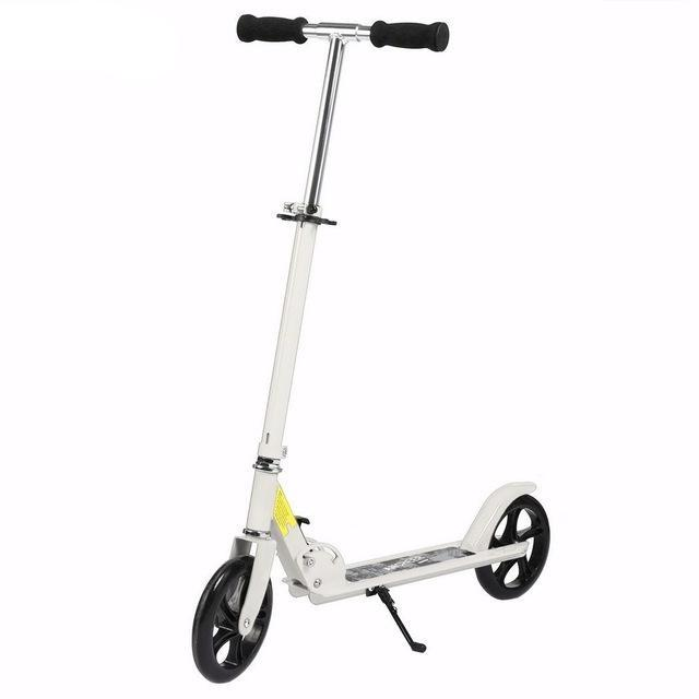 Trottinette adulte ajustable blanche Elifine