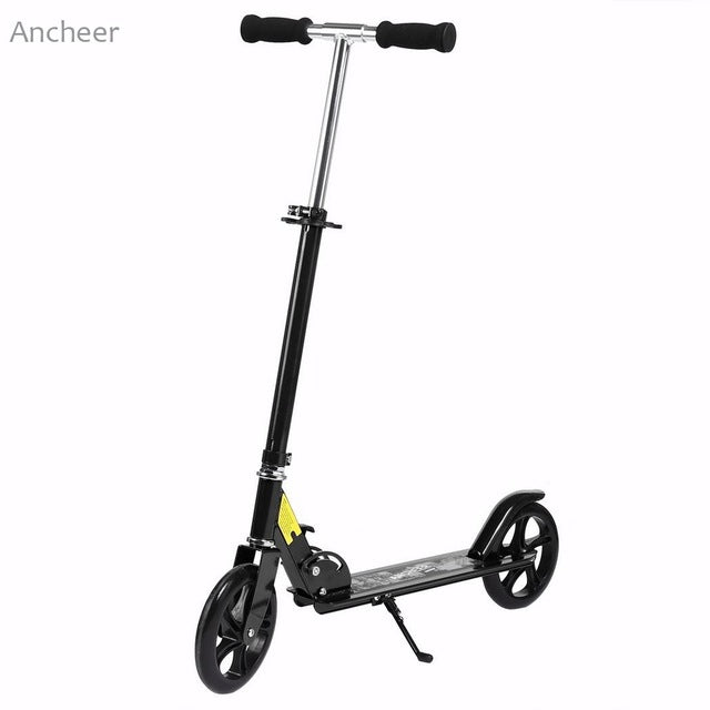 Trottinette adulte ajustable noire Elifine