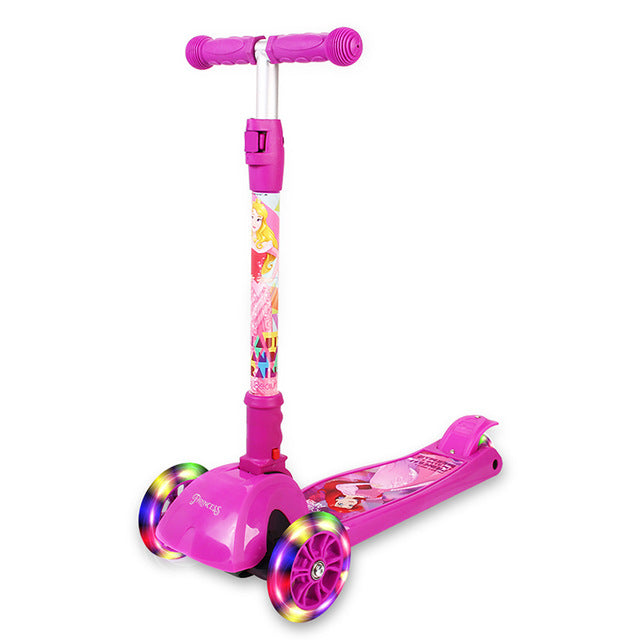 Trottinette enfant rose Princesses Disney