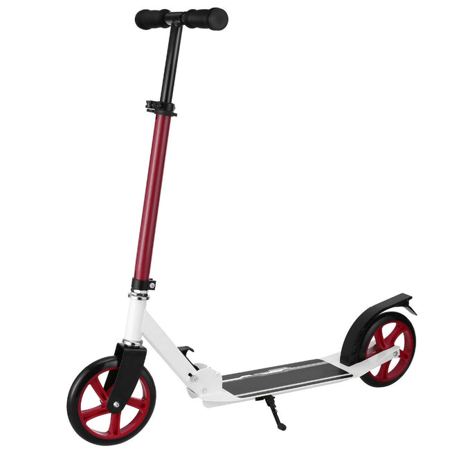 Trottinette adulte ajustable rouge Ancheer