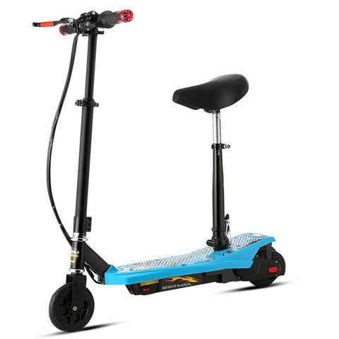 Trottinette électrique adulte rouge portable à batterie Camouflage