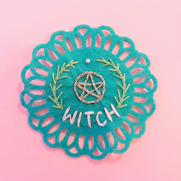 Witch Embroidered Patch