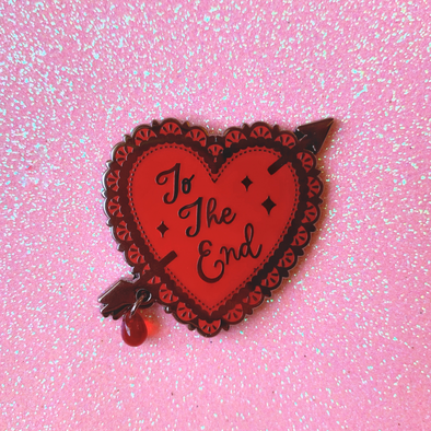 To The End MCR Valentine Heart Enamel Pin