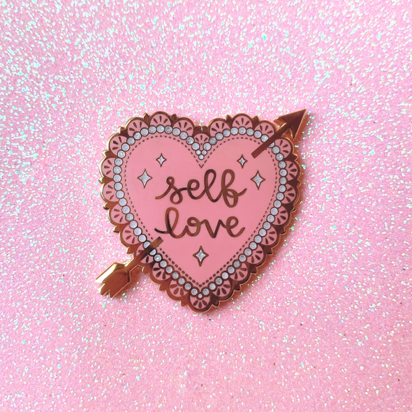 Self Love Valentine Heart Enamel Pin