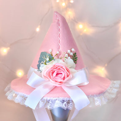 *PREORDER* Pink Lace Witch Hat