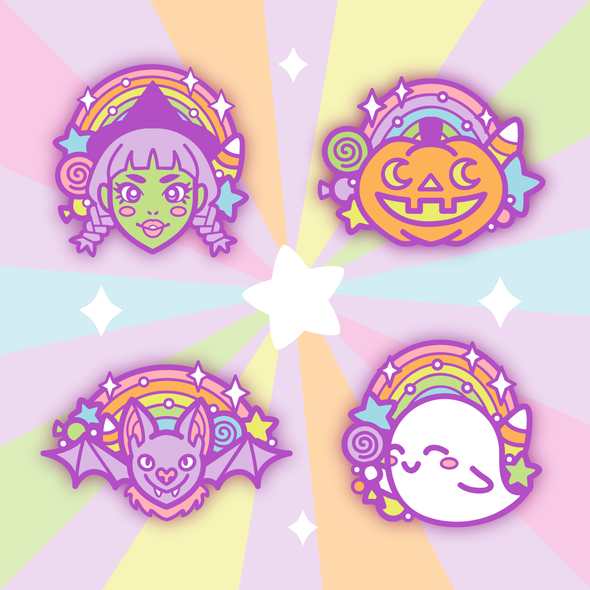 Halloween Enamel Pin Bundle