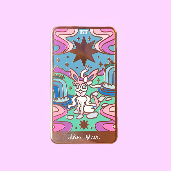 Sylveon Tarot Card Enamel Pin