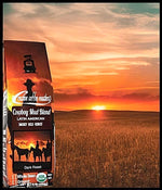 COWBOY MUD - Dark Roast - Whole or Ground  Bean, or Keurig Compatible Kcups -  USDA Organic - Non GMO