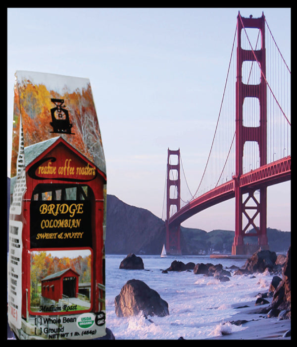 BRIDGE- Organic Medium Roast - Whole or Ground Bean, or Capsules - USDA Organic - Non GMO