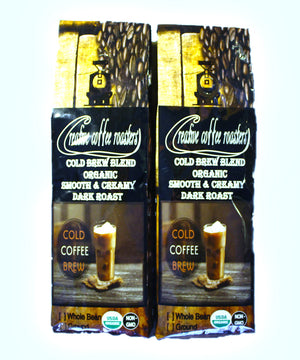 COLD BREW - Dark Roast - Whole or Ground Bean, or Capsules - USDA Organic - Non GMO