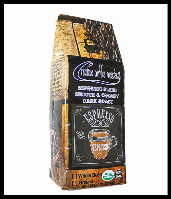 ESPRESSO - Dark Roast - Super Crema - Whole or Ground Bean, or Capsules- USDA Organic - Non GMO