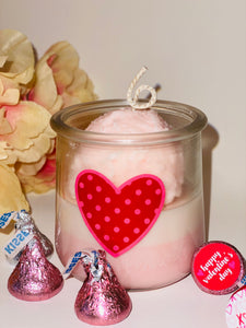 rose petal gelato soy candle