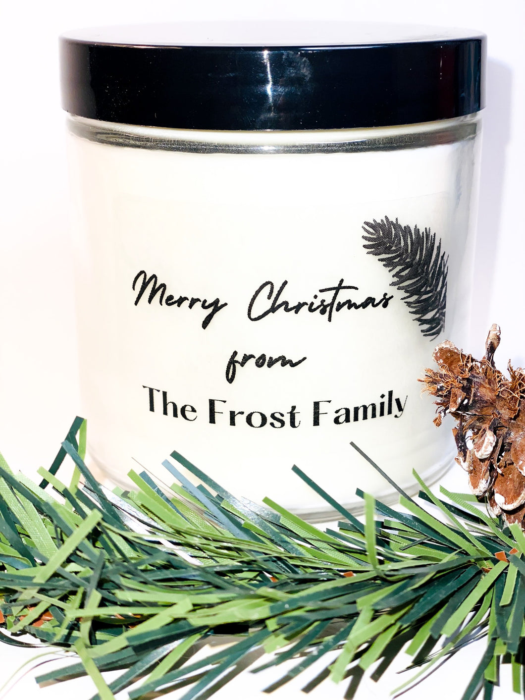 Personalize Holiday Candles - Redemption Candle Company