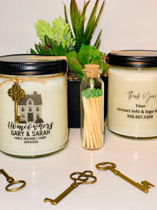 Personalized Business Candle - Realtor Box