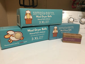 Wool Dryer Balls w/Essential Oil