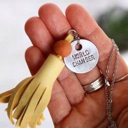 Essential Oil Jewelry - Tassel Necklace - Redemption Candle Company