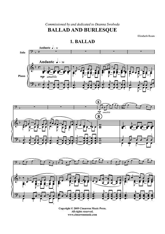 Ballad and Burlesque - Piano Score