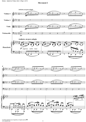 Piano Quintet, Op. 34a, Movement 2 - Piano Score