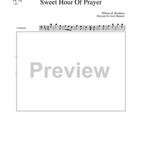 Sweet Hour of Prayer - Trombone