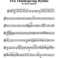 Two Thanksgiving Hymns - Horn in F