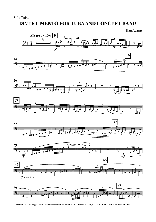 tuba solo sheet music