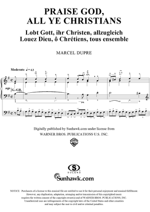"Praise God, All Ye Christians, from ""Seventy-Nine Chorales"", Op. 28, No. 54"