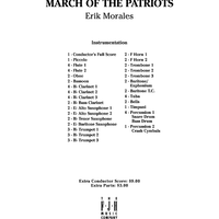 March of the Patriots - Score