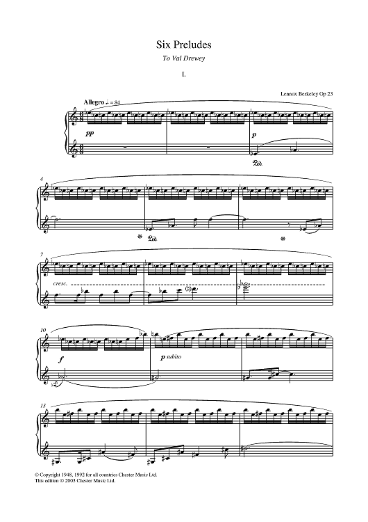 Prelude No. 1 (from Six Preludes)