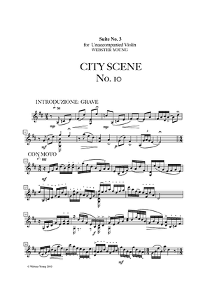 City Scene No. 10 from Suite No. 3