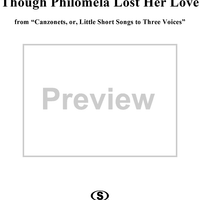 Though Philomela Lost Her Love