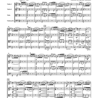 "Quartettino G-dur ""La Tiranna Spagnola"" Op. 44, No. 4 - for String Quartet - Score"