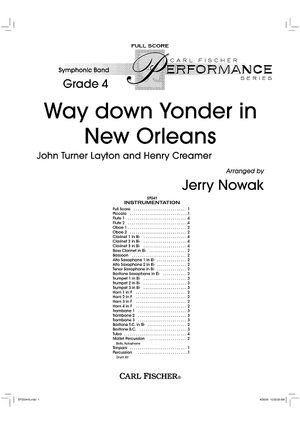 Way down Yonder in New Orleans - Score