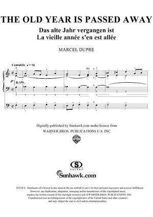 "The Old Year is Passed Away, from ""Seventy-Nine Chorales"", Op. 28, No. 17"