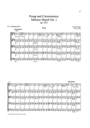 Pomp and Circumstance - Military March No. 1, Op. 39 No.1, Trio