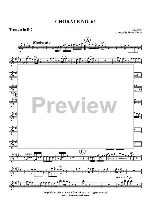 Chorale No. 64 - Trumpet 2 in Bb