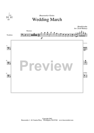 Wedding March - Trombone