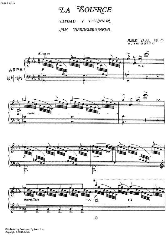 La Source Op.23