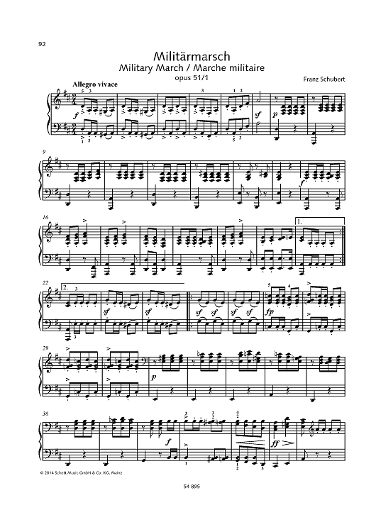 Military March, Op. 51 No. 1