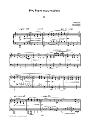 Five Piano Improvisations: 5. Largo