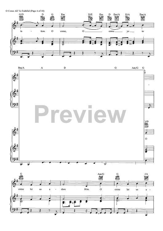 """Buy """"O Come, All Ye Faithful"""" Sheet Music by Pentatonix for Piano/Vocal/Chords"""