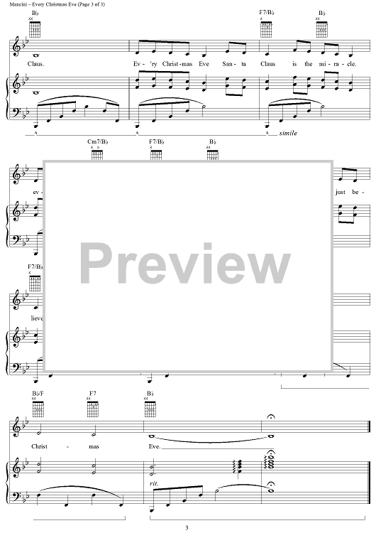 Buy Every Christmas Eve Sheet Music For Piano Vocal Chords