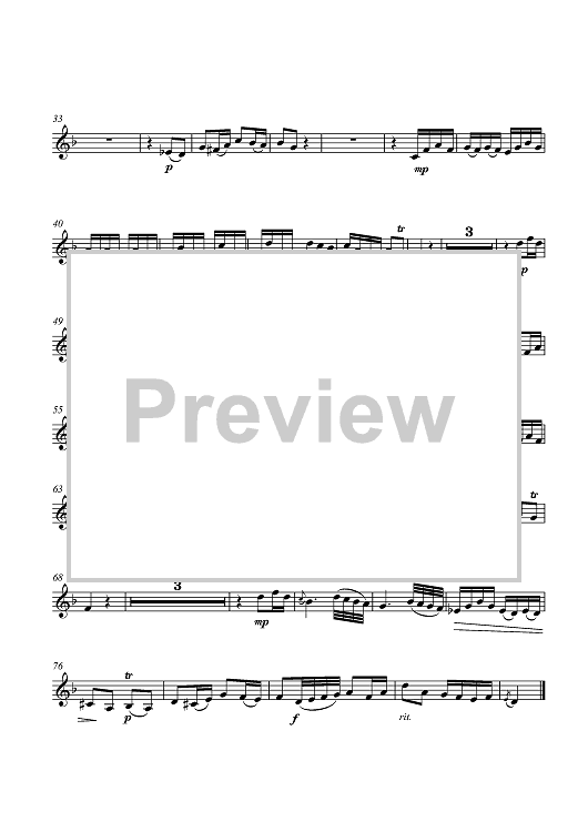 """Buy """"Badinerie - Piccolo Trumpet in A"""" Sheet Music for ..."""