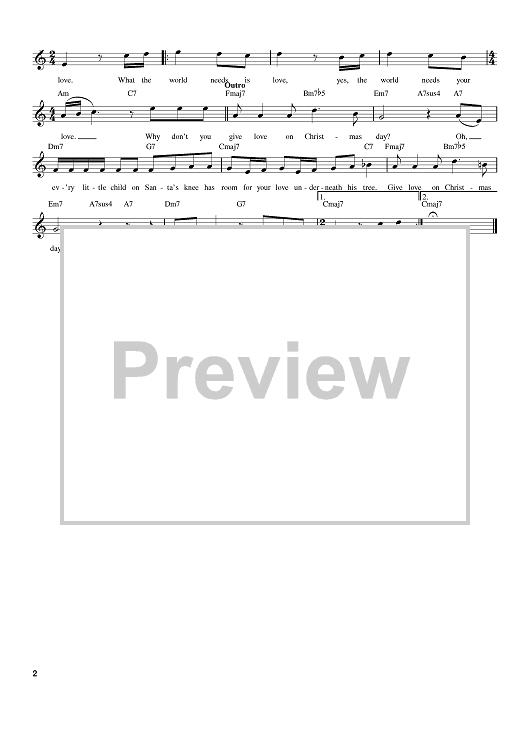 """Buy """"Give Love On Christmas Day"""" Sheet Music by Johnny Gill; The Jackson 5; The Temptations for E..."""