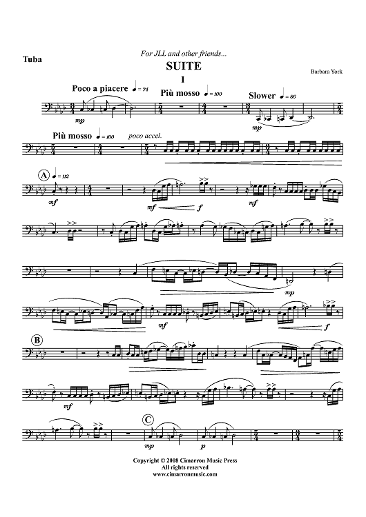 Suite for Horn and Tuba - Tuba